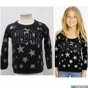 Chaser Starry Dream Pullover Girls Raglan Top Size